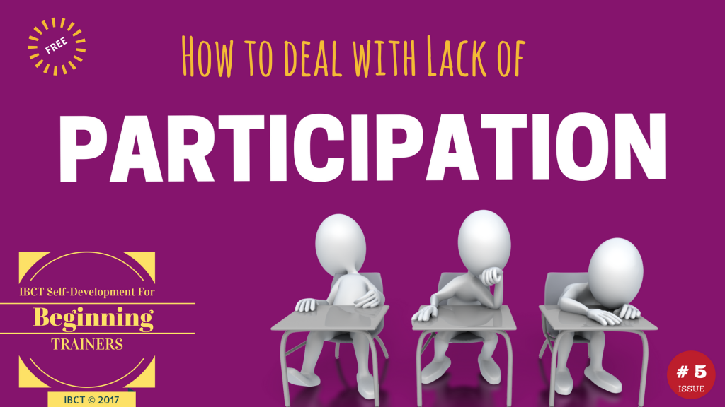 how trainers encourage participation in training ibct blog